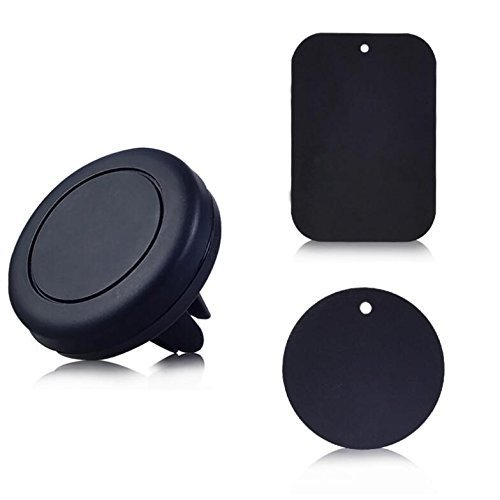 Lifes Grace carholder Magnetic Mount Universal Air Vent Magnetic Car Mount Phone Holder for Cell Phones and Mini Tablets with Fast Swift-Snap Technology 2 Piece with 4 Metal Plates