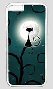 Cat Starring At The Moon Thanksgiving Halloween Masterpiece Limited Design PC Transparent Case for iphone 6 by Cases & Mousepads