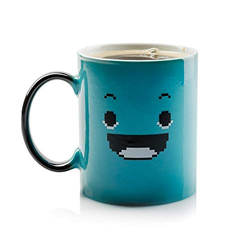 InGwest Home. Morning Coffee Mug. 11 ounce. Changing Color Mug for you and your friend. Ceramic Heat Sensitive Color Changing Coffee Mug. Novelty Heat Sensitive Mug With Funny Smile by InGwest Home (Image #1)