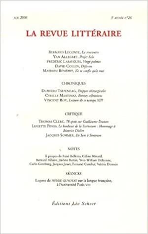 Lire un La Revue littéraire, N° 26, Mai 2006 : pdf, epub ebook