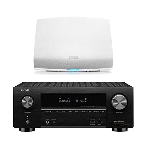 Denon AVR-X3500H 7.2-Channel 4K Ultra HD AV Receiver with HEOS 5 Wireless Streaming Speaker - Series 2 (White)