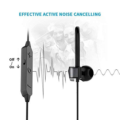 Active Noise Cancelling Bluetooth Earbuds, Meidong HE8K Wireless Earbuds in Ear Sports Earphones with 12 Hours Battery Stereo Sound with Built in Microphones and Hard Travel Case for Workout