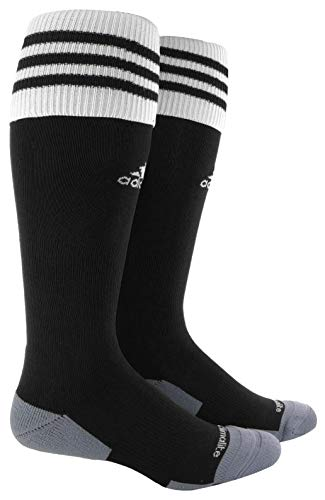 adidas Unisex Copa Zone Cushion II Soccer Sock (1-Pair), Black/White, 5-8.5