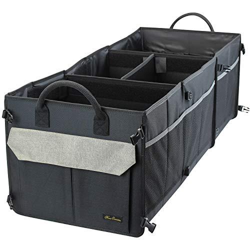 Home Innovation Car Trunk Organizer for SUV, Truck, Cargo - Khaki]()