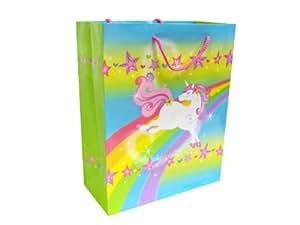 Magic Rainbow Unicorn Glossy Gift Bag, 12Pc/Pack