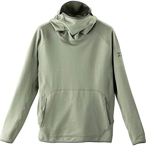 ダイワ(DAIWA) フィッシングフード付きシャツ ミドルウェイトバラクラバフーディー グレー L DE-90009