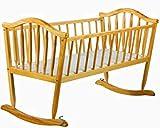 Farmhouse Crib Rocking Cradle Pad Swing Wooden