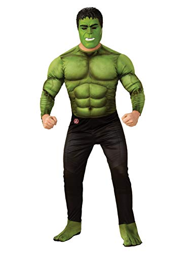 Rubie's Marvel Avengers: Endgame Deluxe Hulk Adult Costume and Mask, As Shown, Extra-Large -