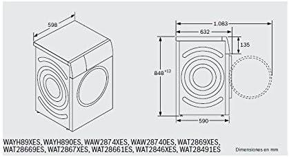 Bosch LAVADORAS, Plata, 85x60x60: 596.4: Amazon.es: Grandes ...