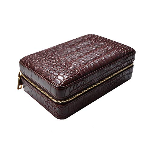 $85.99 antique humidor JTYX Cigar Case Portable Mellow Solid Wood Cigars Humidor can Hold 4,Brown,20.6X13.2X7.9CM 2019