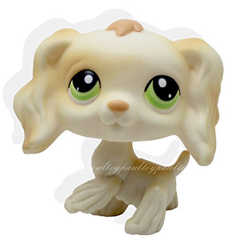 tongrou #347 Rare Littlest Pet Shop Cream Cocker Spaniel Dog Puppy Green Eyes Animal LPS (I Love Puppies Ds Game)
