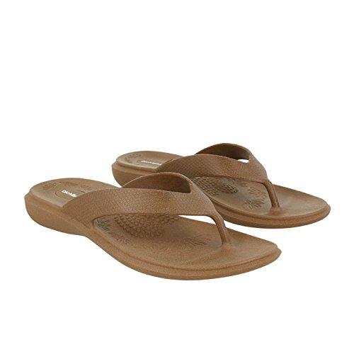 - Okabashi Women's Maui Flip Flops - Sandals (ML - (W 8-9), Toffee)