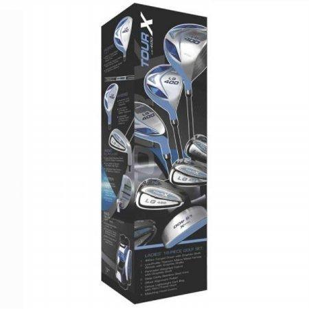 その他メーカー その他 TOUR-X ゴルフクラブセット LG-400 キャディバッグ付き レディス L ブルー B005F3BBIC