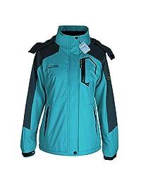 Alomoc Winter Hiking Jacket Waterproof Softshell Snowboard Coats with Hood