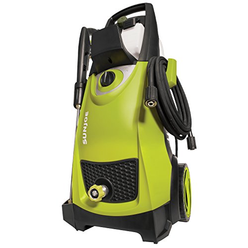 Electric pressure washer with dual tanks.