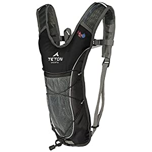 TETON Sports Trailrunner 2 Liter Hydration Backpack Perfect for Biking, Running, Hiking, Climbing, and Hunting; Black