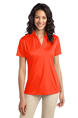 (Port Authority Women's Silk Touch Performance Polo M Neon Orange)
