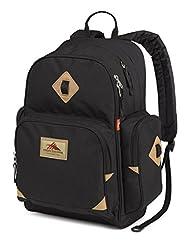 High Sierra Warren Lifestyle Backpack, Black, International Carry-On