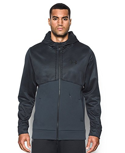 Under Armour Men's Storm Icon Full Zip Hoodie, Stealth Gray/Black, Large