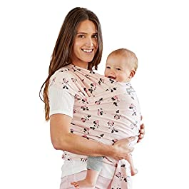 Moby Wrap Baby Carrier | Minnie Mouse | Baby Wrap Carrier for Newborns & Infants | #1 Baby Wrap | Keeps Baby Safe…