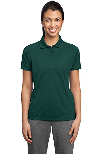 Sport-Tek Ladies Dri-Mesh Pro Sport Shirt, Dark Green, XX-Large