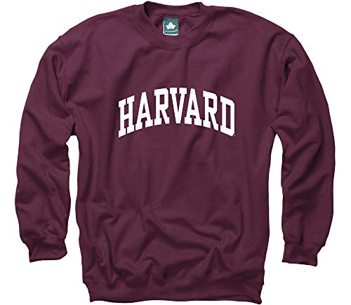 (Ivysport Harvard University Crewneck Sweatshirt, Classic, Crimson, Large)