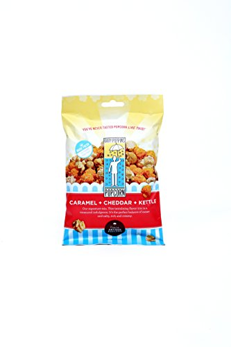 Buttery Cheddar Cheese Popcorn Tin - Gary Poppins Popcorn - Gourmet Handcrafted Flavored Popcorn - Caramel Cheddar Kettle (2oz) - 10 Pack