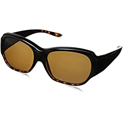 Solar Shield Santa Monica Polarized Rectangular Sunglasses, Tortoise, 59 mm