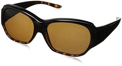 Solar Shield Santa Monica Polarized Rectangular Sunglasses, Tortoise, 59 - Over Amazon Sunglasses Glasses