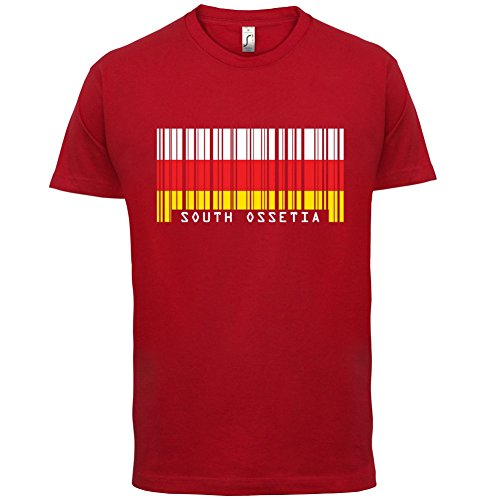 South Ossetia / Südossetien Barcode Flagge - Herren T-Shirt - Rot - S