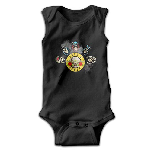 MatthewConnersw Guns N Roses Music Band Sleeveless Baby Bodysuit Summer Baby Boy's Crawling Clothes 47 Gift