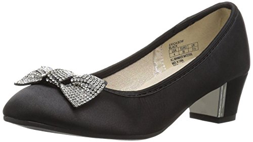 Stuart Weitzman Girls' Erica Bow Pump, Black, 2 M US Little (Stuart Weitzman Bow)