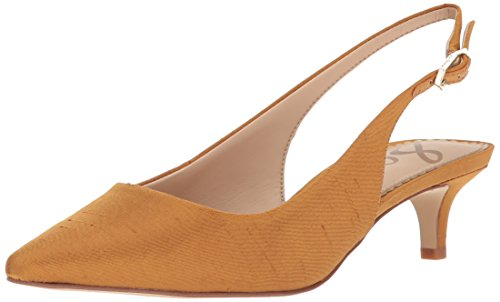 Sam Edelman Women's Ludlow Pump, Dark Golden Yellow Dupioni, 8.5 Medium (Golden Ladies Shoes)