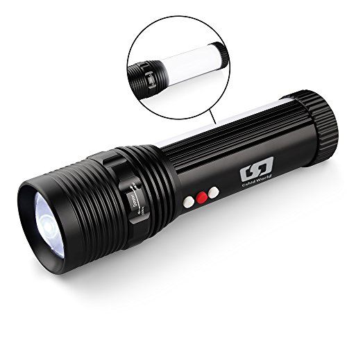 Tactical LED Flashlight, Super Bright Portable Handheld Emergency Flashlight Torch Lamp Lantern Warning Light Zoomable Adjustable with 18650 Rechargeable Battery and Charger