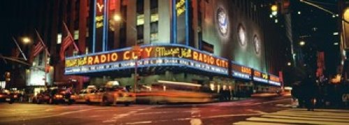 Manhattan Radio City Music Hall NYC New York City New York State USA Poster Print (36 x 13)