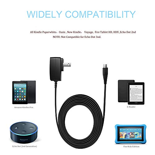 Fire HD7 HD8 USB Charger, AC Adapter Compatible for Amazon Fire 7 Fire HD7 Fire HD8 Kindle Fire HD HDX Fire Kids Edition Tablets.[UL Listed]