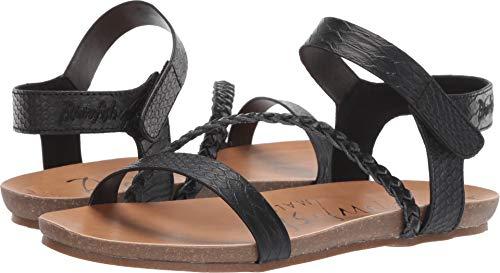 Blowfish Malibu Womens Goya Sandals, Black Snake Charmer Pu/Dyecut Pu, 11 M US ()