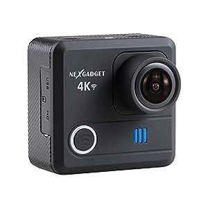 NEXGADGET 4K WIFI Action Camera 16MP 4K Waterproof Sports Camera 170 Degree Ultra Wide-Angle Lens 2 Pcs Rechargeable Batteries