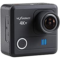 NEXGADGET 4K WIFI Action Camera 16MP 4K Waterproof Sports Camera 170 Degree Ultra Wide-Angle Lens 2 Pcs Rechargeable Batteries