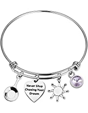 UJIMS Rapunzel Bracelet Inspired Tangled Accessories Charm for an Adventurous Princess Never Stop Chasing Your Dream Fairy Tales Jewelry