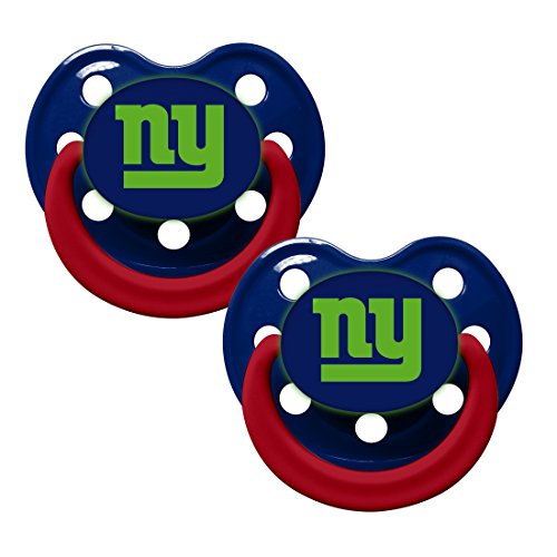 York Giants 2 Pack Baby Pacifier
