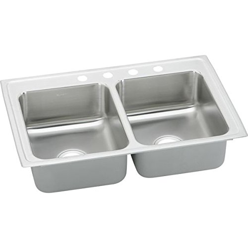 (Elkay PSR33194 Sink Double-Bowl Pacemaker Bright)