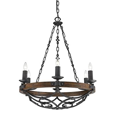 Golden Lighting 1821-6 Madera 6 Light Candle Style Chandelier,