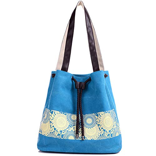 bandoulière Greetuny Multi main fonction Bleu Capacité à Grande à Toile classique Femme Sacs en Sac tqgrTqw