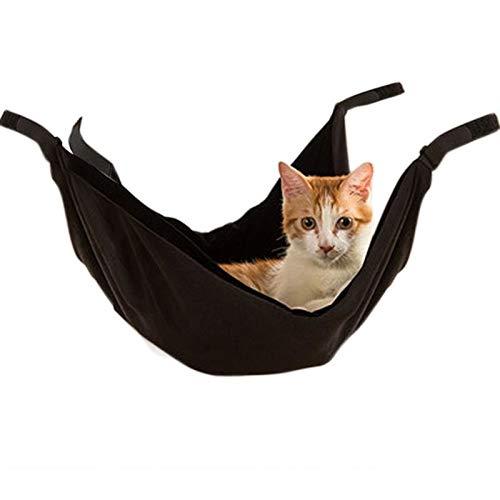 Black JLFAIRY Pet Hanging Bed Double Sided Warm Pet Hammock Pet Cage Hammock