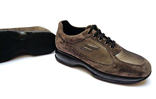 FRAU - Zapatos de cordones de ante para mujer pelo de visón 38