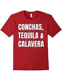Conchas, Tequila & Calavera: Cool Dia De Los Muertos T-Shirt
