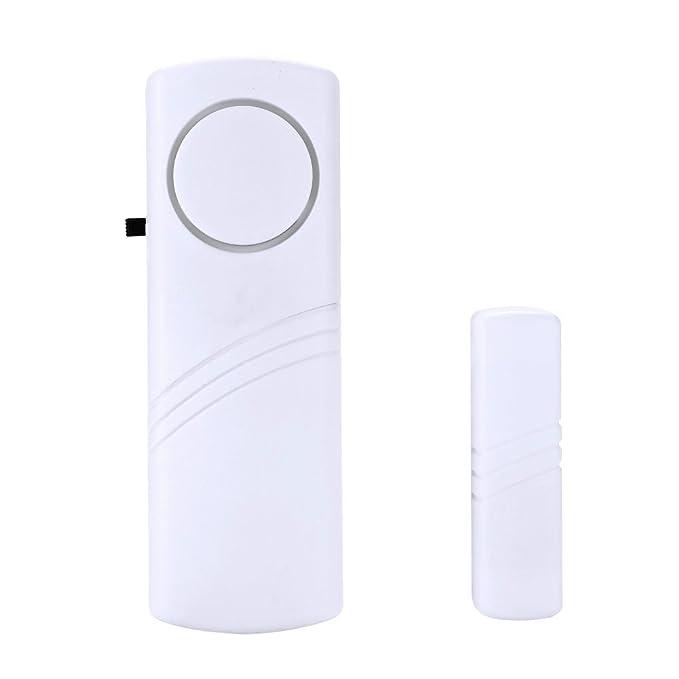 Hanbaili Detector de sensor de ventana de puerta inteligente Almacén de oficina de oficina magnética * Sistema de alerta de alarma de seguridad Secuirity: ...