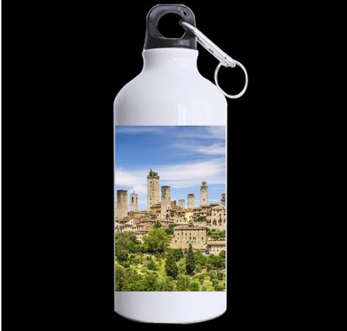 Beautiful Italy City DIY Personalized Custom Sport Water Bottle Travel Cup Design Your Own Nice Gift Art Prints Twin Sides by CustomLittleHome
