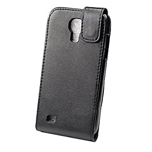 YULIN Teléfono Móvil Samsung - Cobertor Posterior - Color Sólido - para Samsung S4 Mini I9190 ( Negro , Cuero PU ) , Black